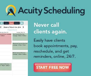 Online Booking with AcuityScheduling